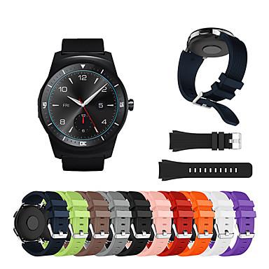 Недорогие Watch Bands for LG-Ремешок для часов для LG G Watch W100 / LG G Watch R W110 / LG Watch Urbane W150 LG Спортивный ремешок / Классическая застежка силиконовый Повязка на запястье