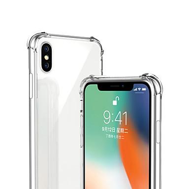 voordelige iPhone-hoesjes-hoesje Voor Apple iPhone XS / iPhone XR / iPhone XS Max Schokbestendig / Transparant Achterkant Effen Zacht TPU