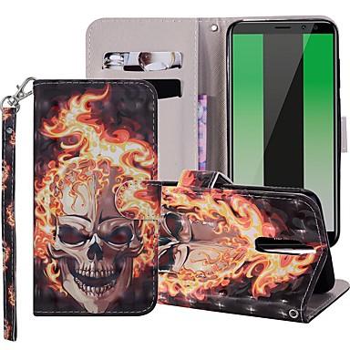 voordelige Huawei Mate hoesjes / covers-hoesje Voor Huawei Mate 10 / Mate 10 lite / Huawei Mate 20 lite Portemonnee / Kaarthouder / met standaard Volledig hoesje Doodskoppen Hard PU-nahka