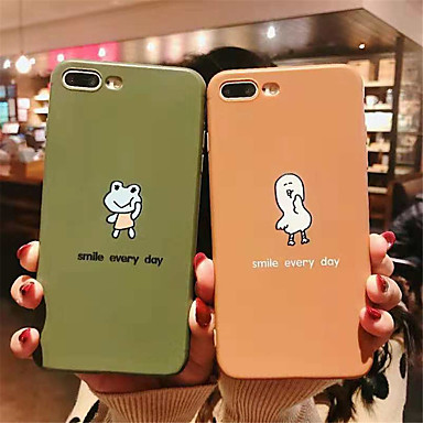 voordelige iPhone-hoesjes-hoesje voor apple iphone xr / iphone xs max patroon / frosted achterkant cartoon soft tpu voor iphone 6 6 plus 6s 6s plus 7 8 7plue 8 plus x xs
