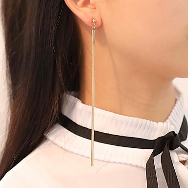 Kadın's Damla Küpeler Bağlantı zinciri Basit Klasik Küpeler Mücevher Altın / Gümüş Uyumluluk Parti Bar Festival 1 çift