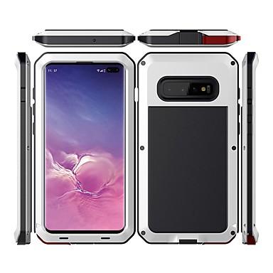 Недорогие Чехлы и кейсы для Galaxy S-Кейс для Назначение SSamsung Galaxy Galaxy S10 Водонепроницаемый / Защита от удара / Защита от пыли Чехол Однотонный Твердый Металл