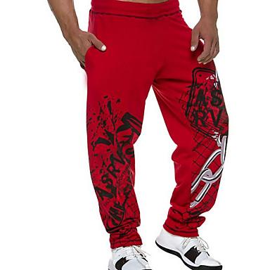 رخيصةأون بنطلونات الرياضة-رجالي رياضي Active بنطلونات بنطلون - لون سادة أسود أحمر M L XL
