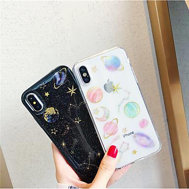 voordelige iPhone X hoesjes-hoesje voor apple iphone xr / iphone xs max diy / patroon / transparante achterkant glitter shine / scenery zachte tpu voor iphone x / xs / 6/6 plus / 6s / 6s plus / 7/7 plus / 8/8 plus