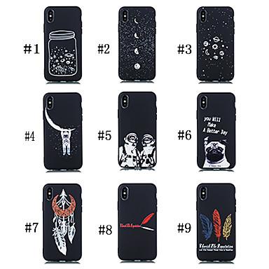 Недорогие Чехлы и кейсы для Galaxy Note-Кейс для Назначение SSamsung Galaxy Note 9 Матовое / С узором Кейс на заднюю панель С собакой / Слова / выражения / Цвет неба Мягкий ТПУ