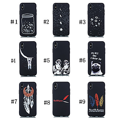 voordelige Galaxy Note-serie hoesjes / covers-hoesje Voor Samsung Galaxy Note 9 Mat / Patroon Achterkant Hond / Woord / tekst / Hemel Zacht TPU