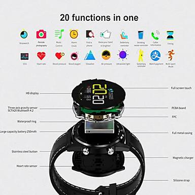 رخيصةأون ساعات ذكية-KUPENG GT28 للجنسين سمارت ووتش Android iOS بلوتوث Smart رياضات ضد الماء رصد معدل ضربات القلب أصفر فاتح عداد الخطى تذكرة بالاتصال متتبع النشاط متتبع النوم تذكير المستقرة / شاشة لمس / رمادي داكن