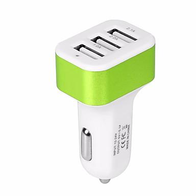 autolader usb auto-adapter telefoonladers met 12v-24v input snelladen intelligent vermogen 5v / 5.1a 3-poorts autolader compatibel met iphone, ipad, samsung, huawei en meer