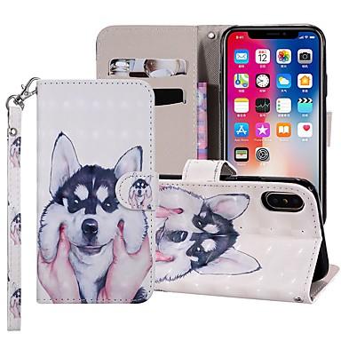 Недорогие Кейсы для iPhone-чехол для яблока iphone xr / iphone xs max магнитный / флип / с подставкой для всего тела для собак из искусственной кожи для iPhone 5c / se / 5s / iphone 6s / 6s plus / 7/7 plus / x / xs / 8/8 plus