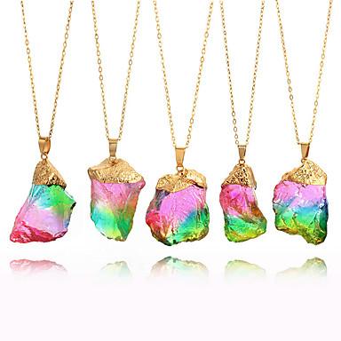 Žene Ogrlice s privjeskom Ogrlica neprerezani dijamant energija Kamen Duga 8 cm Ogrlice Jewelry 1pc Za Festival