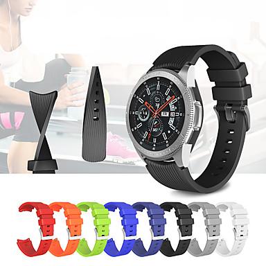 Недорогие Часы для Samsung-Ремешок для часов для Gear S3 Frontier / Gear S3 Classic Samsung Galaxy Спортивный ремешок силиконовый Повязка на запястье