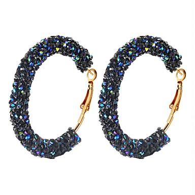 Women's Blue White Multicolor Hoop Earrings Classic Imagine Hope Blessed Simple Classic Korean Fashion Modern Resin Earrings Jewelry White / Blue / Black / White For Gift Daily Street 1 Pair