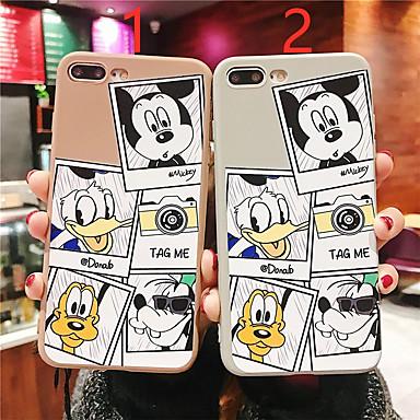 voordelige iPhone X hoesjes-hoesje voor apple iphone xr / iphone xs max patroon / frosted achterkant cartoon soft tpu voor iphone 6 6 plus 6s 6s plus 7 8 7plue 8 plus