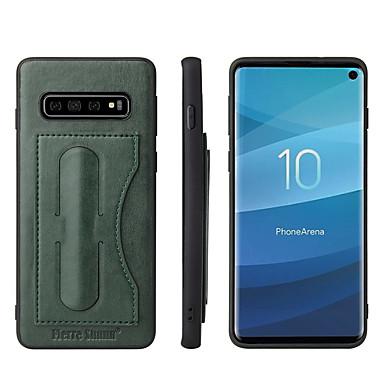 voordelige Galaxy S-serie hoesjes / covers-hoesje Voor Samsung Galaxy S9 / S9 Plus / S8 Plus Kaarthouder / met standaard Achterkant Effen Hard PU-nahka