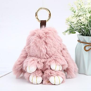 Недорогие Брелоки-Брелок Rabbit Животные На каждый день Мода Модные кольца Бижутерия Светло-Розовый / Тёмно-синий / Светло-голубой Назначение Подарок Школа
