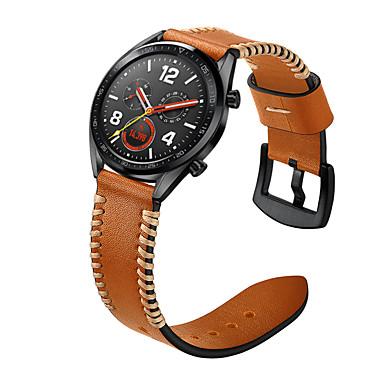 voordelige Smartwatch-accessoires-Horlogeband voor Huawei Watch GT / Watch 2 Pro Huawei Sportband / Klassieke gesp Echt leer Polsband