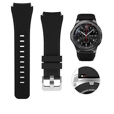 Недорогие Часы для Samsung-Ремешок для часов для Gear S3 Frontier / Gear S3 Classic / Samsung Galaxy Watch 46 Samsung Galaxy Спортивный ремешок / Классическая застежка силиконовый Повязка на запястье
