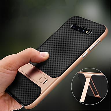 voordelige Galaxy S-serie hoesjes / covers-hoesje Voor Samsung Galaxy S9 / S9 Plus / S8 Plus Schokbestendig / met standaard Volledig hoesje Effen Hard TPU