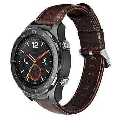 Недорогие Ремешки для часов Huawei-Ремешок для часов для Huawei Watch 2 Huawei Спортивный ремешок Нержавеющая сталь / Кожа Повязка на запястье