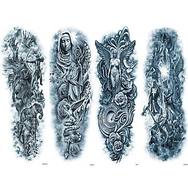 4 pcs ideiglenes tetoválás Környezetbarát / Egyszer használatos Karosszéria / brachium / vissza Kártyapapír