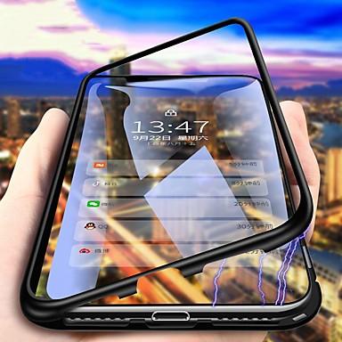 Недорогие Чехлы и кейсы для Xiaomi-чехол для xiaomi pocophone f1 / redmi note 8 pro / redmi note 7 pro пыленепроницаемый / зеркальный / ультратонкий чехол для всего тела прозрачный металлический магнитный закаленный корпус для redmi