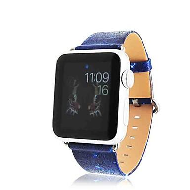 preiswerte Smartwatch-Zubehör-Uhrenarmband für Apple Watch Series 5/4/3/2/1 Apple Schmuckdesign Echtes Leder Handschlaufe