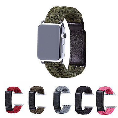 voordelige Smartwatch-accessoires-Horlogeband voor Apple Watch Series 5/4/3/2/1 Apple Sportband Nylon / Echt leer Polsband