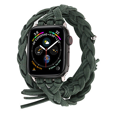 Недорогие Аксессуары для смарт-часов-Ремешок для часов для Серия Apple Watch 5/4/3/2/1 Apple Современная застежка Натуральная кожа Повязка на запястье