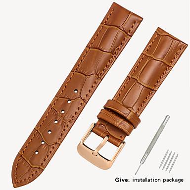 رخيصةأون قيود ساعات-جلد أصلي / جلد / شعر العجل حزام حزام إلى أسود / بني 17CM / 6.69 بوصة / 18cm / 7 Inches / 19cm / 7.48 Inches 1.2cm / 0.47 Inches / 1.4cm / 0.55 Inches / 1.6cm / 0.6 Inches