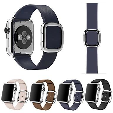 voordelige Smartwatch-accessoires-horlogebandje voor apple watch serie 4/3/2/1 appli lederen leren riem van echt leer