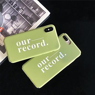 Недорогие Кейсы для iPhone X-чехол для яблока iphone xr / iphone xs max шаблон задняя крышка слово / фраза жесткий ПК для iphone x xs 8 8plus 7 7plus 6 6plus 6s 6s plus