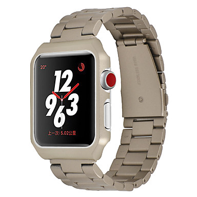 رخيصةأون أساور ساعات هواتف أبل-حزام إلى أبل ووتش سلسلة 5/4/3/2/1 Apple بكلة عصرية ستانلس ستيل شريط المعصم