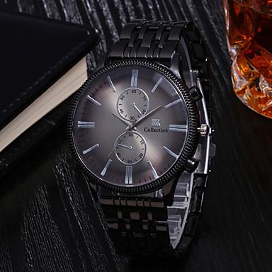 Недорогие Часы на металлическом ремешке-Муж. Нержавеющая сталь Кварцевый На каждый день Защита от влаги Аналоговый Черный Красный Синий / Один год / Крупный циферблат
