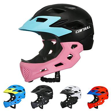 CAIRBULL Dječji Bike kaciga BMX Kaciga 16 Ventilacijski otvori Integralno oblikovana Light Weight Mreža za kukce ESP + PC PC Sportski Klizanje na ledu Vježbanje na otvorenom Biciklizam / Bicikl - Crn