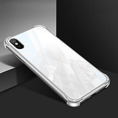Недорогие Кейсы для iPhone X-Кейс для Назначение Apple iPhone XS / iPhone XR / iPhone XS Max Зеркальная поверхность Кейс на заднюю панель Однотонный Твердый Закаленное стекло