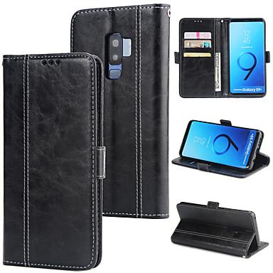 Недорогие Чехлы и кейсы для Galaxy S-Кейс для Назначение SSamsung Galaxy S9 / S9 Plus / S8 Plus Кошелек / Бумажник для карт / Защита от удара Кейс на заднюю панель Однотонный Твердый Кожа PU