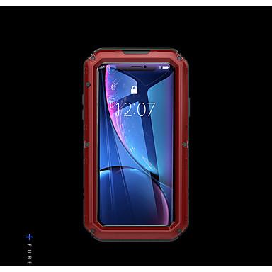 voordelige iPhone-hoesjes-hoesje Voor Apple iPhone XR Waterbestendig / Schokbestendig / Stofbestendig Achterkant Effen Hard Metaal