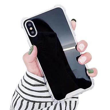 Недорогие Кейсы для iPhone 7-Кейс для Назначение Apple iPhone XS / iPhone XR / iPhone XS Max Защита от удара / Защита от влаги / Зеркальная поверхность Кейс на заднюю панель Однотонный Твердый ТПУ