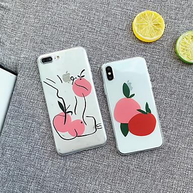 Недорогие Кейсы для iPhone 7-Кейс для Назначение Apple iPhone XS / iPhone XR / iPhone XS Max Защита от удара Кейс на заднюю панель Продукты питания / дерево Мягкий ТПУ / ПК