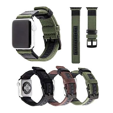 Недорогие Аксессуары для смарт-часов-Ремешок для часов для Серия Apple Watch 5/4/3/2/1 Apple Спортивный ремешок Нейлон Повязка на запястье
