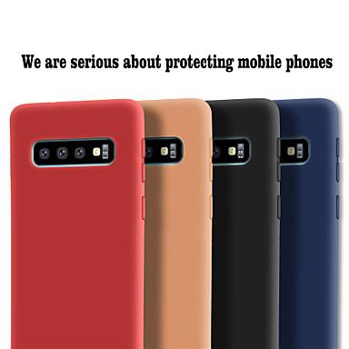 Недорогие Чехлы и кейсы для Galaxy S-Кейс для Назначение SSamsung Galaxy Galaxy S10 / Galaxy S10 Plus / Galaxy S10 E Матовое Кейс на заднюю панель Однотонный Мягкий ТПУ