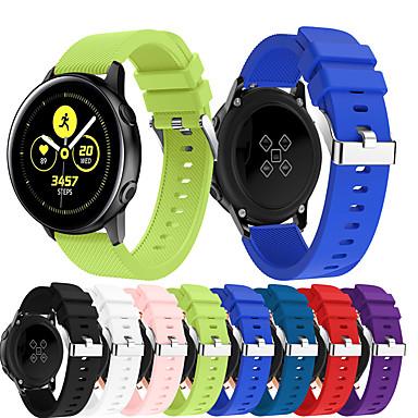 Недорогие Часы для Samsung-Ремешок для часов для Gear Sport / Samsung Galaxy Watch 42 / Samsung Galaxy Active Samsung Galaxy Спортивный ремешок Металл / силиконовый Повязка на запястье