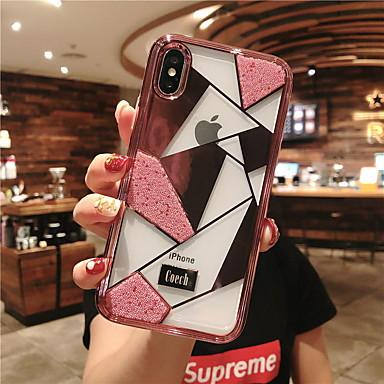 Недорогие Кейсы для iPhone X-Кейс для Назначение Apple iPhone XR / iPhone XS Max / iPhone X Стразы Кейс на заднюю панель Геометрический рисунок Твердый Закаленное стекло