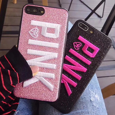 voordelige iPhone-hoesjes-hoesje Voor Apple iPhone XR / iPhone XS Max / iPhone X Patroon / Glitterglans Achterkant Glitterglans Zacht PU-nahka