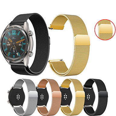 voordelige Smartwatch-accessoires-Horlogeband voor Huawei Watch GT / Watch 2 Pro Huawei Sportband / Milanese lus Metaal / Roestvrij staal Polsband