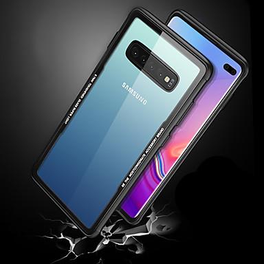 Недорогие Чехлы и кейсы для Galaxy S-Кейс для Назначение SSamsung Galaxy Galaxy S10 / Galaxy S10 Plus / Galaxy S10 E Защита от удара / Ультратонкий / Прозрачный Кейс на заднюю панель Прозрачный Твердый Закаленное стекло