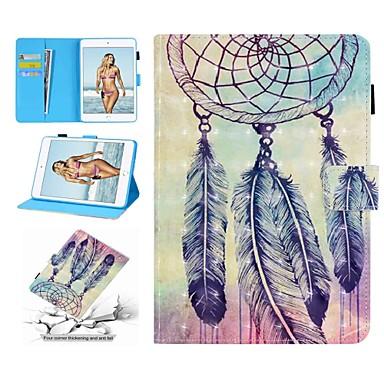 Недорогие Кейсы для iPhone-Кейс для Назначение Apple iPad Mini 5 / iPad Mini 3/2/1 / iPad Mini 4 Кошелек / Бумажник для карт / Защита от удара Чехол Перья Твердый Кожа PU
