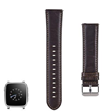 voordelige Horlogebandjes voor Pebble-Horlogeband voor Pebble Time / Pebble Time Steel Pebble Sportband Roestvrij staal / Leer Polsband