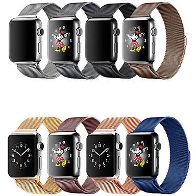 voordelige Smartwatch-accessoires-smartwatch band voor apple watch serie 4/3/2/1 appel milanese lus roestvrij stalen polsband