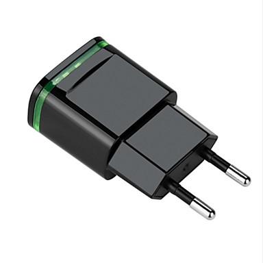 olcso iPod tartozékok-Hordozható töltő USB töltő EU konnektor Több csatlakozós 2 USB port 2.1 A DC 12V-24V mert